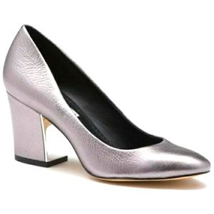Karl Lagerfeld Sabrina Silver Metallic Shoes heels